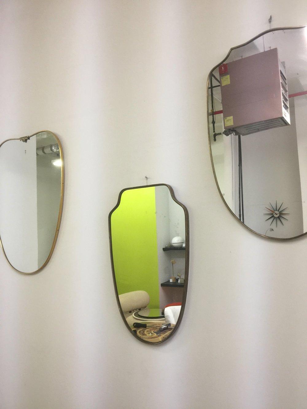 Brass Frame Mid Century Mirrors