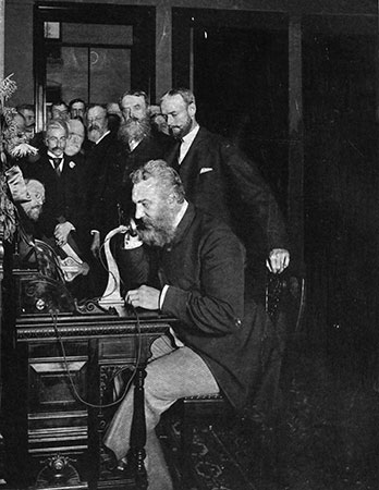 Alexander Graham Bell, backed by JM Forbes & Co.