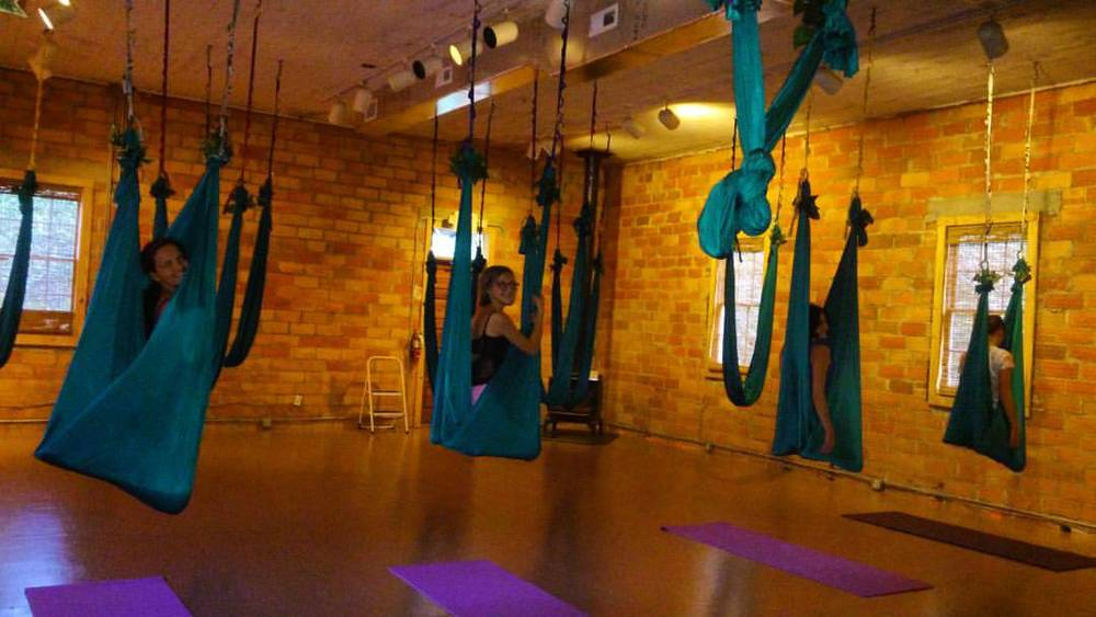 A pack of camels in the Thursday afternoon 3:30 Teen Aerial Yoga. Not pictured: the 10,000 flips we are recovering from. I have a few adventuresome spirits in this class.