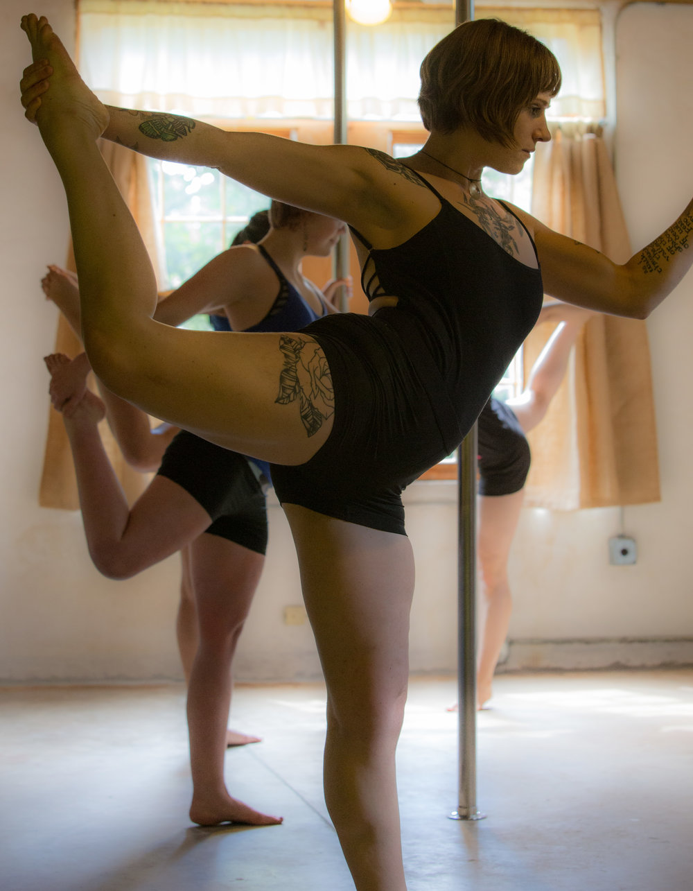 Allow the Pole to Enhance Your Favorite Stretches.