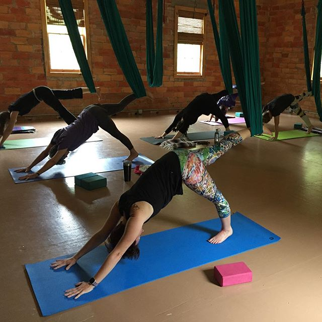 Sunday Aerial Yoga (last chance until Thursday) 10 am Level 2 11:30 am Beginner Level. . Limited class schedule for Spring Break. Check Soul Shine Fairhope app for up to date schedule.