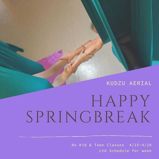 Happy Spring Break! No Kid & Teen Circus Classes for the week of 4/15 - 4/20. Limited drop-in classes (No Tuesday Aerial Fit, Friday Noon, or Sunday classes) Check Soul Shine Fairhope App for full schedule.