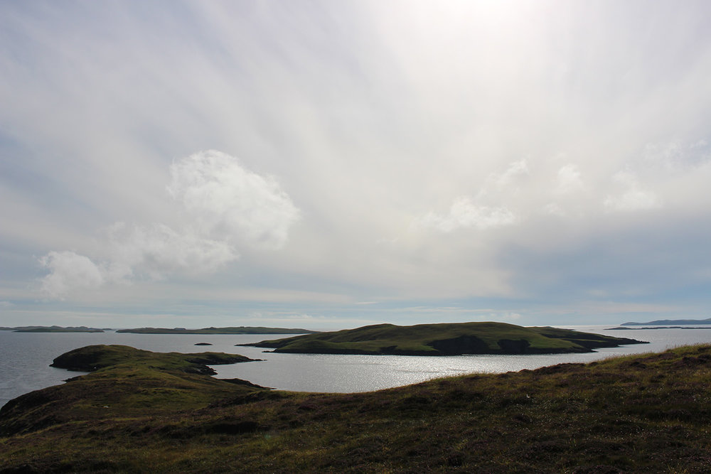 Looking south to some of the tiny isles between here and Burra.