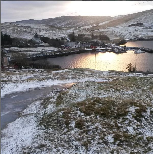 Snow-covered Lower Voe