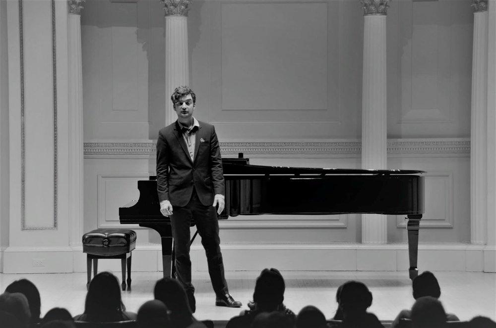 Ryan D'Herde at Carnegie Hall