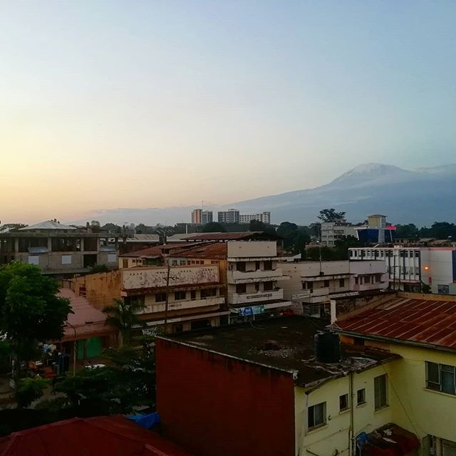 Home from home ❤️ . #homeiswheretheheartis #home #tanzania #moshi #travel #cityscape #sunset #mountainporn #kilimanjaro