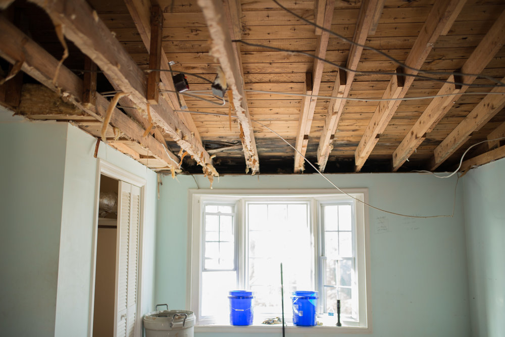 And Since It Was Only About 7 Feet To Begin With We Decided To Take Out All  Of The Ceiling! We Are Planning To Vault The Ceiling To Try And Make A ...