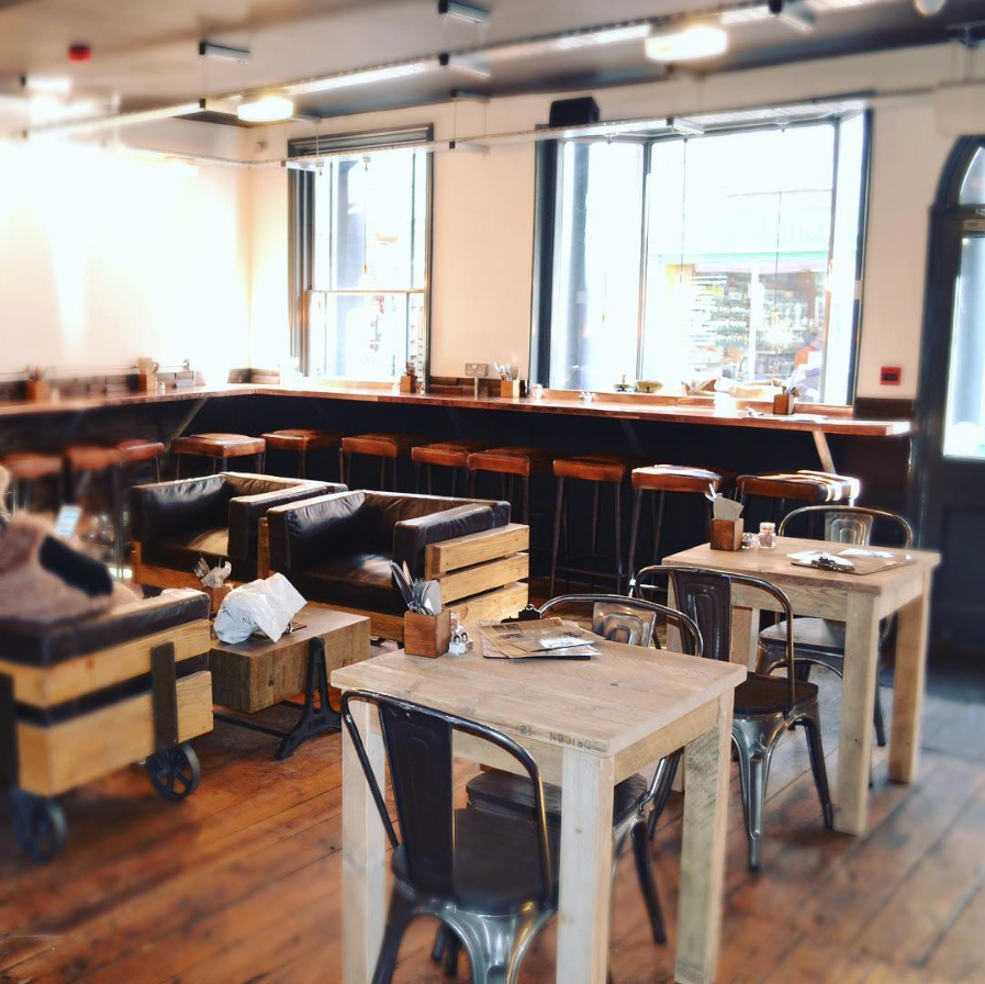 Two floors with ample seating on both means you'll never have a problem finding a table, including a few in some quiet spaces. A great place to chill out and crack on with your latest project.