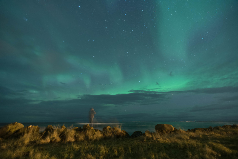 Self portrait with auroras