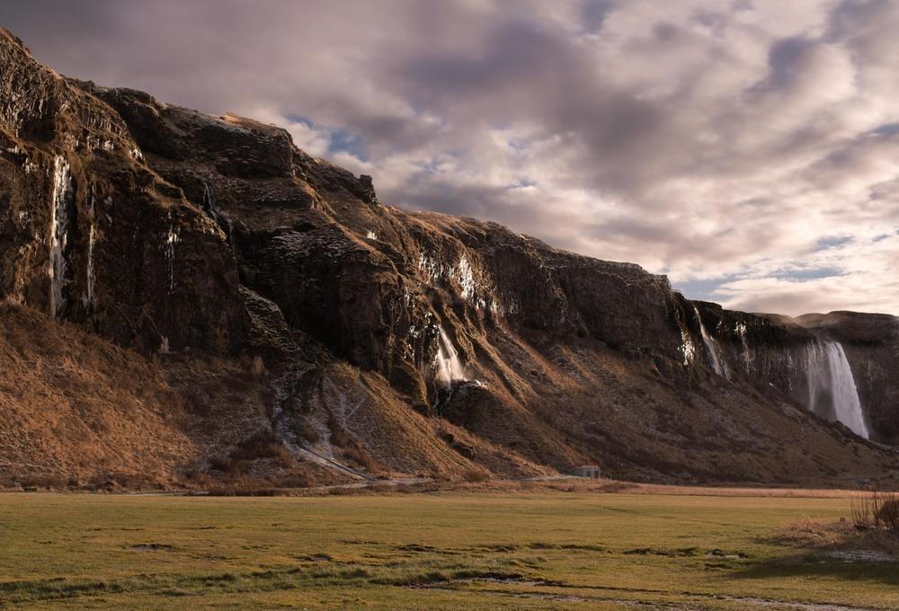 Seljalandfoss and cliff, Iceland