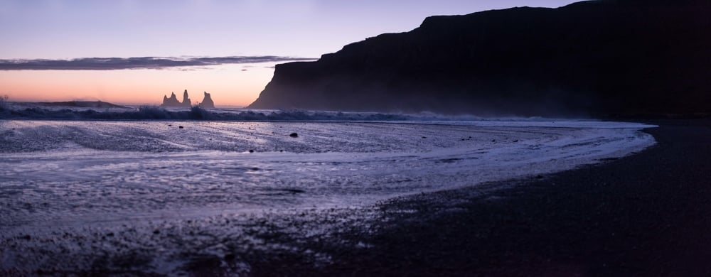 Vik, Iceland in panorama