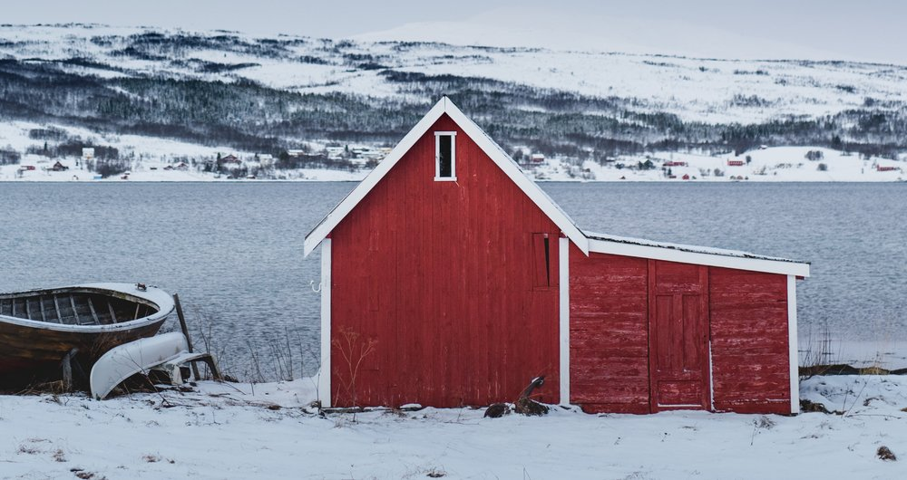 A fishing hut in Northern Norway