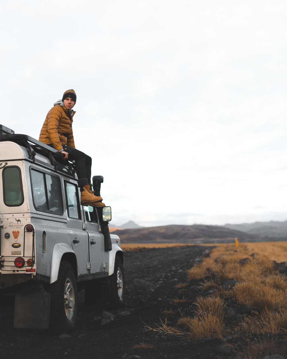 Joe Shutter on his Land Rover Defender