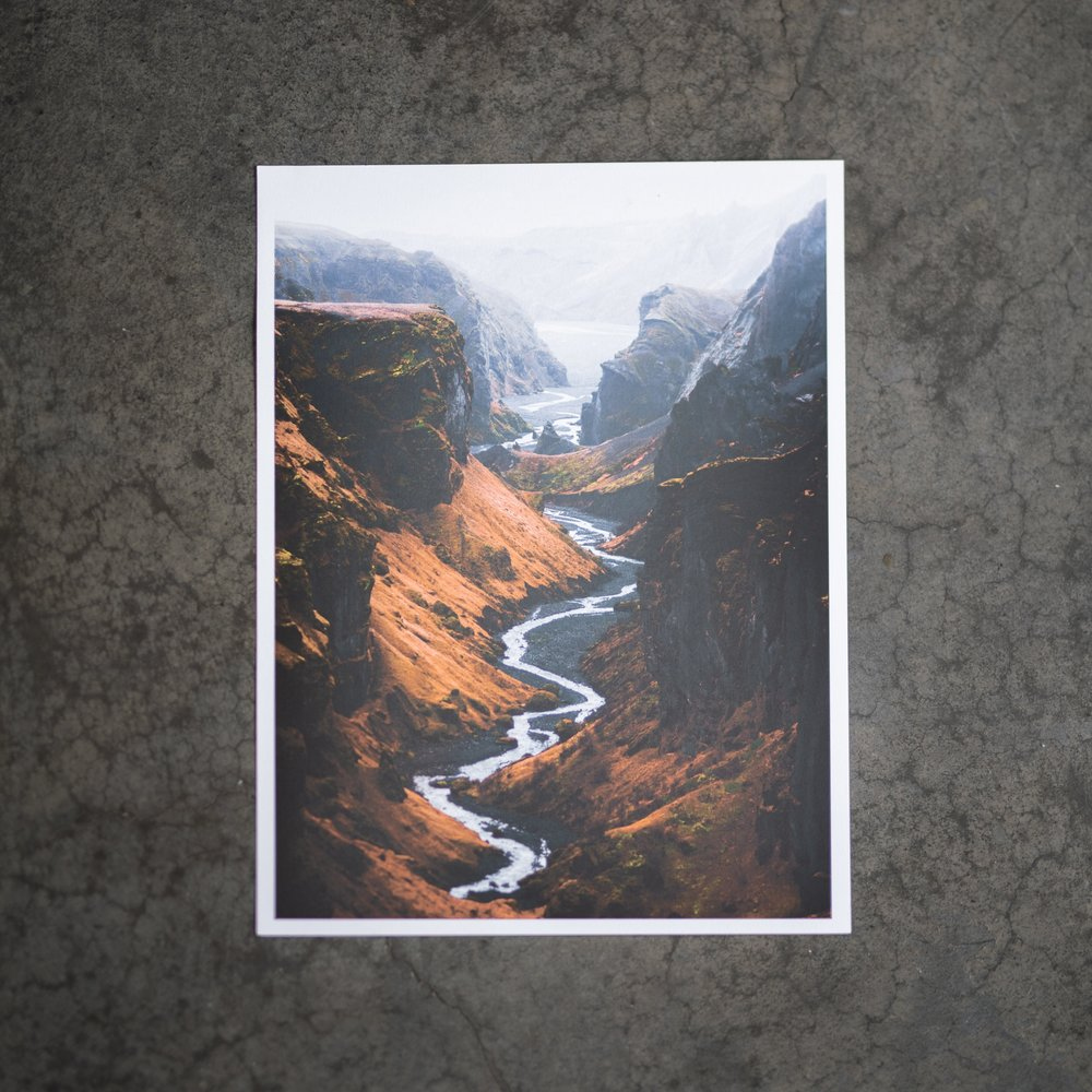 A3 print:11 x 16 inch, trimmed and ready to go.