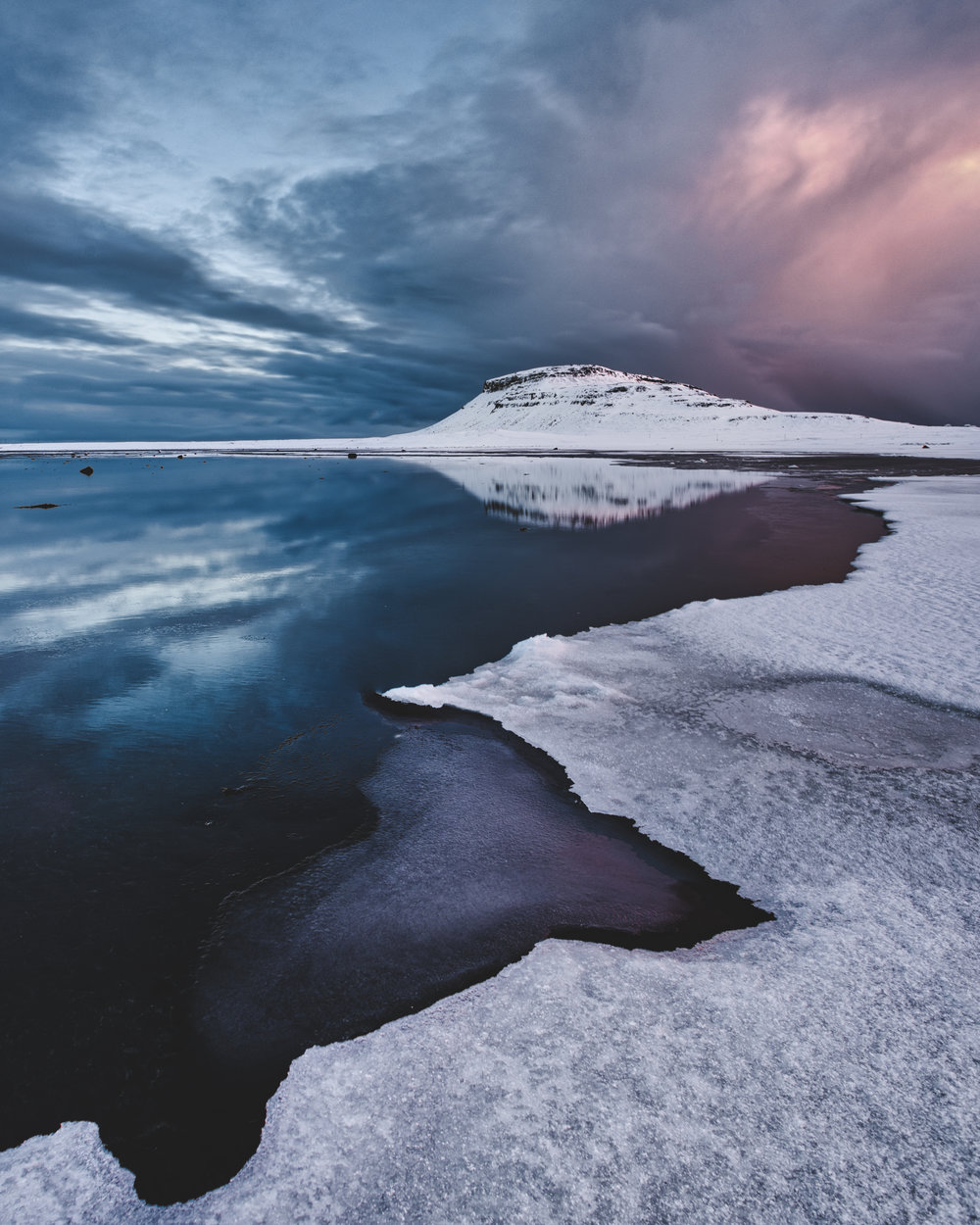 Ice around Snaefellsnes peninsula