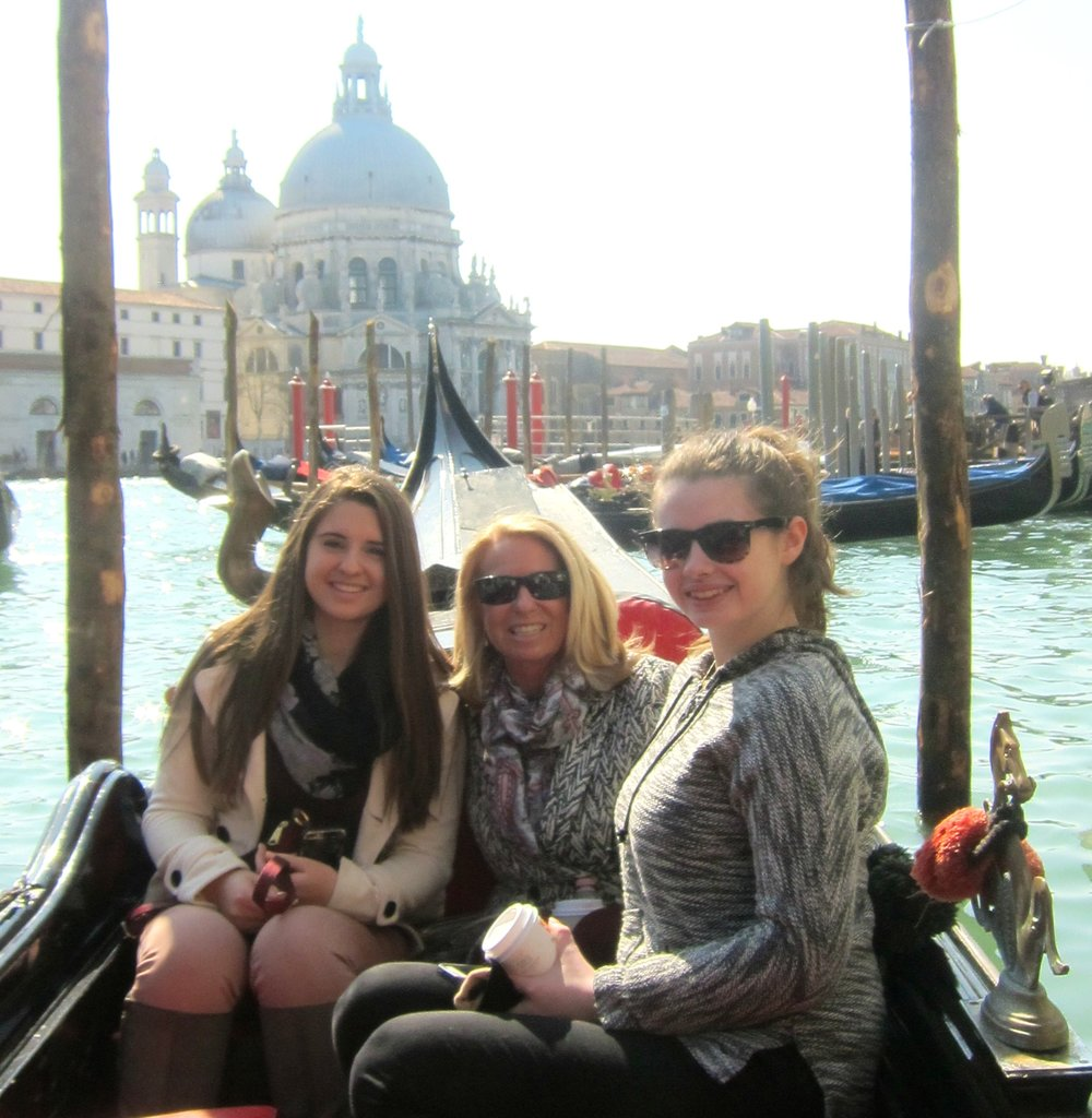 Touring Venice with my girls...my dreams did not have to change!