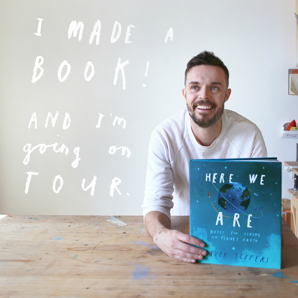 OLIVER JEFFERS  - My goodness this man can tell a story! And also his work on his Instagram is so current and speaks his beliefs. I want to tell stories like he does, but with my own voice. (Photo found on Google, Courtesy of Janis Curry/HarperCollins)