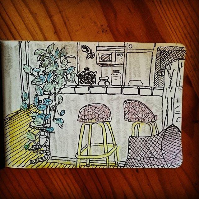 Winona Blvd #livingroom #illustration