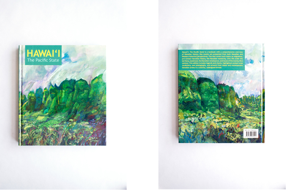 This Hawaiian history textbook was designed and created for elementary school classrooms.  We targeted a colorful, oversized, and graphic collage design approach to make the books contents more engaging for young learners.