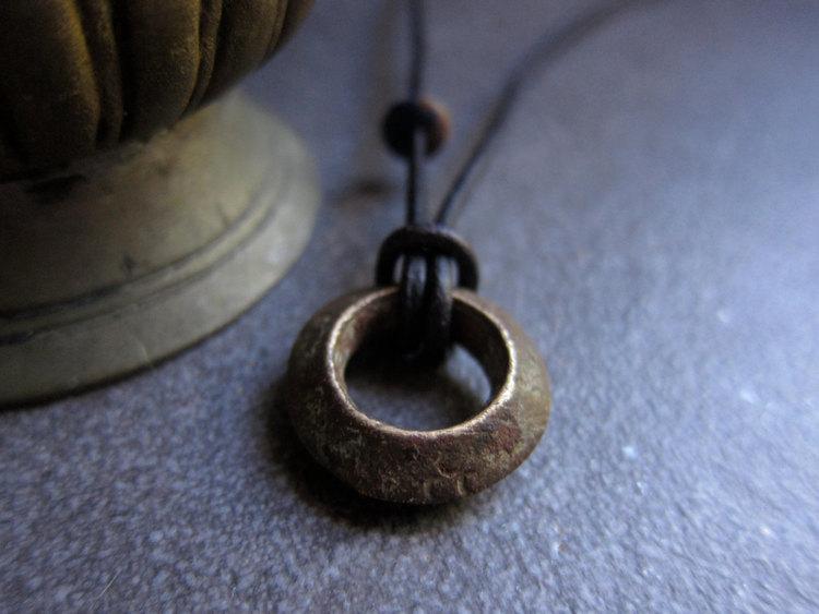 ethiopian wedding ring necklacemens necklacenecklace man antique wedding ringafrican jewelryleather necklace man mens necklacebrown - Wedding Ring Necklace