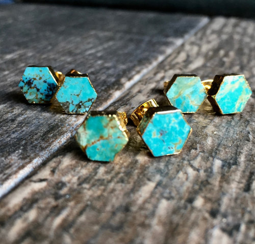 8a51bb249 Turquoise Stud Earrings Gold,Turquoise Earrings Gold,Turquoise Studs ...