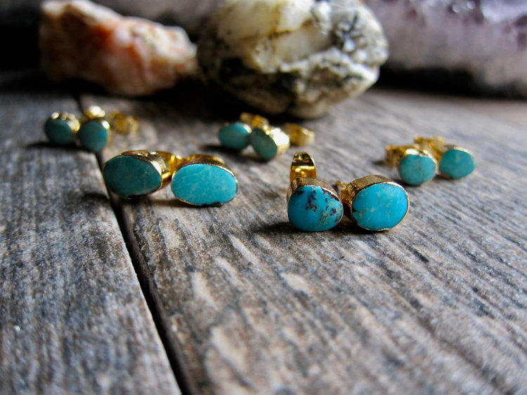 69b3681ea Turquoise Studs Earrings,Turquoise Studs,Studs,Gold Earrings,Small Turquoise  Stud,Turquoise Jewelry,Turquoise Posts,Dainty Turquoise Studs