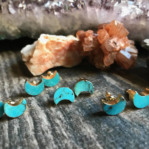 earrings stud listing genuine turquoise mjyd goldturquoise il