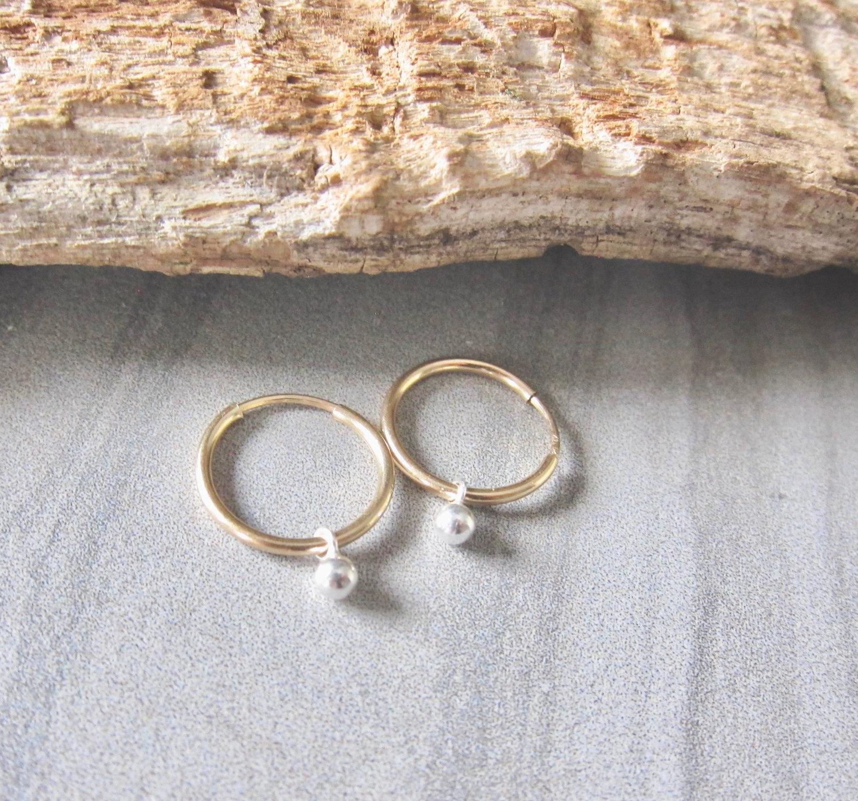 Tiny Gold Hoops Gold Hoop Charm Earrings Gold Hoop Earrings Hoop