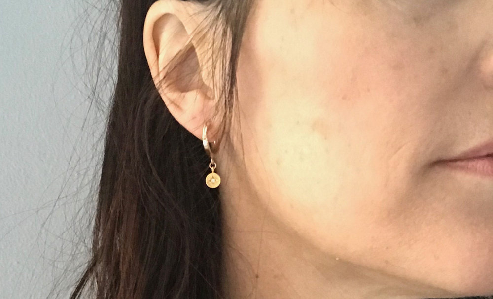 fa9947e57 Small Gold Hoop Earrings,Small Gold Hoops,Gold Fill Hoops,Star Earrings,Starburst  Charm hoops,Mini Hoops,Gold Charm Hoops,Mother's Day