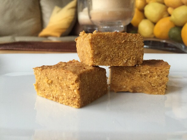 Healthy 3 Ingredient Pumpkin Fudge