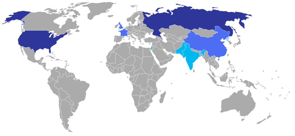 Figure 1: Large stockpile with global range (dark blue), smaller stockpile with global range (medium blue), small stockpile with regional range (pale blue) [source:wikipedia]
