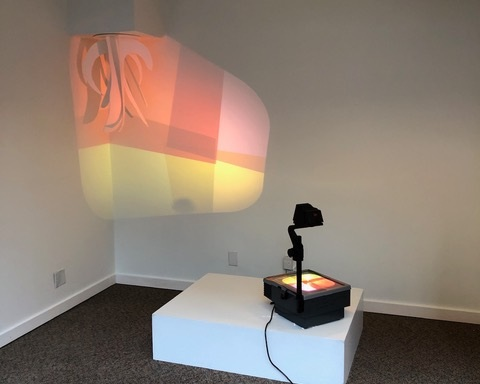 Inverse Projection, Cellophane, foam core, overhead projector, 2019  Photo credit: Nicholas Nyland