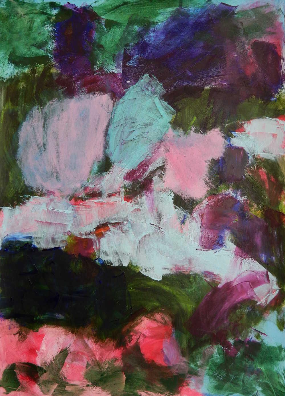 IT'S WORTH IT, Chloé Meyer, 22 x 30, oil on prepared paper