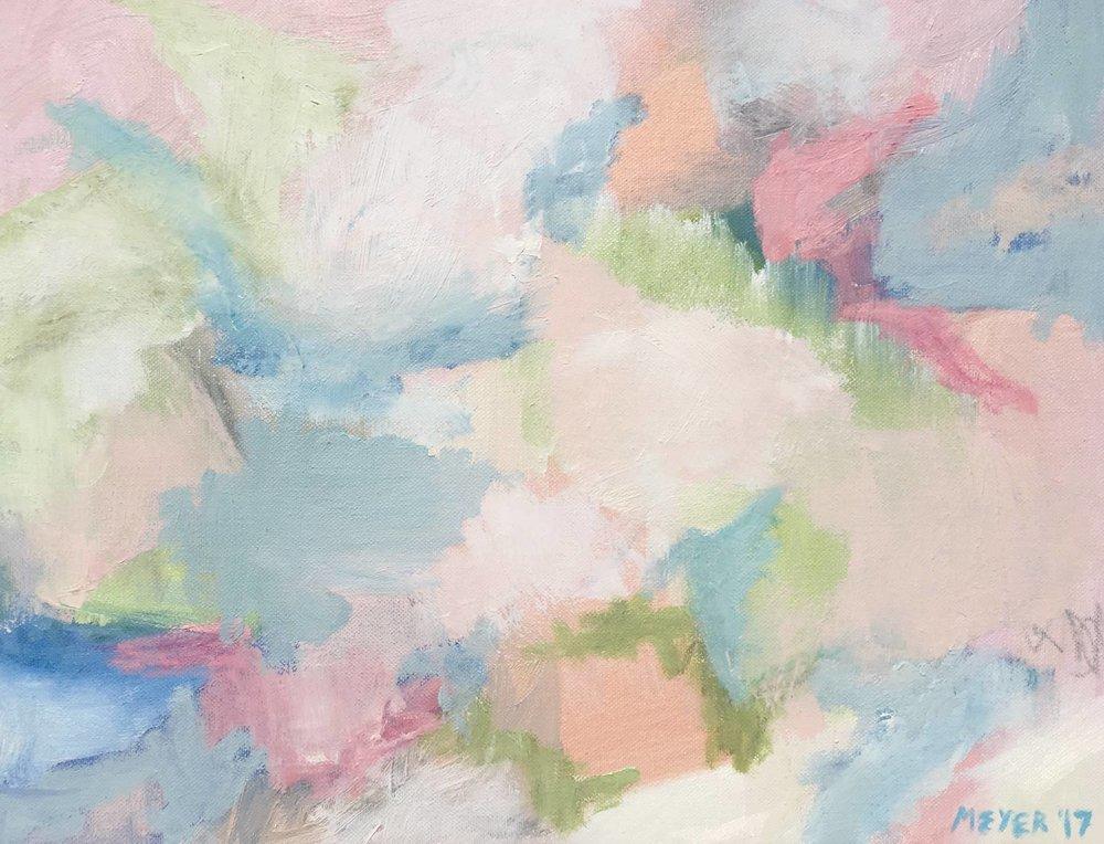 "SPRING POND, Chloé Meyer, 14"" X 18"", oil on canvas"