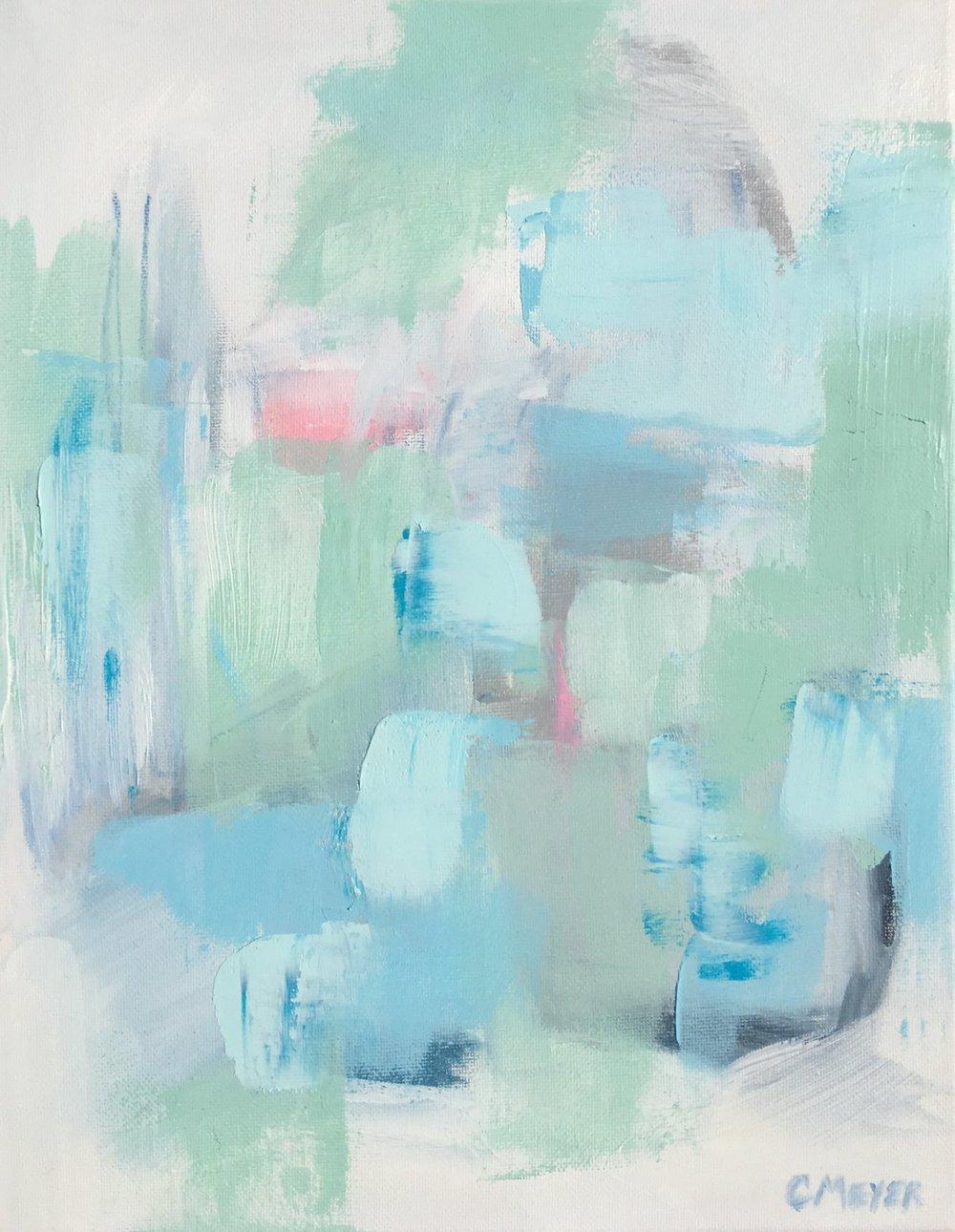 """MOONSTONE, Chloé Meyer, 11"""" x 14"""", oil on canvas"""