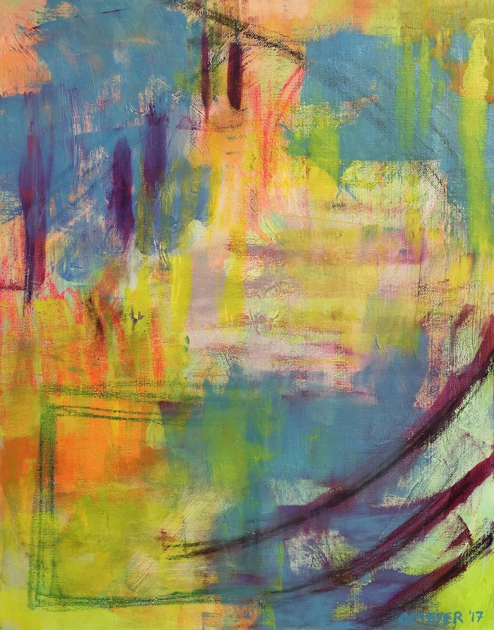 "FLASH OF LIGHT, Chloé Meyer, 16"" x 20"", oil on canvas"