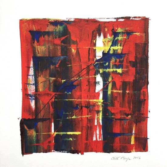 "HUNDRED 1, Chloé Meyer original art, 10"" X 11.25"", ink on paper"