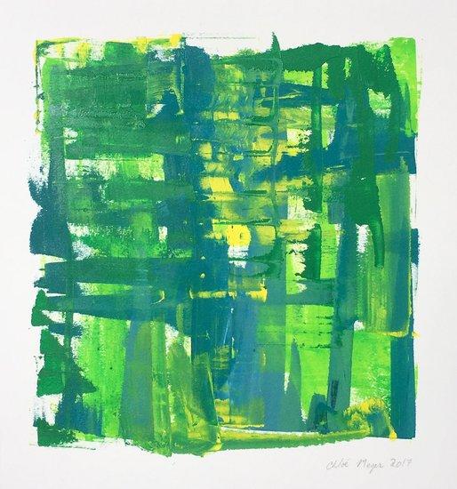 "Splash 1, Chloé Meyer, 10.25""x11"", ink on paper"