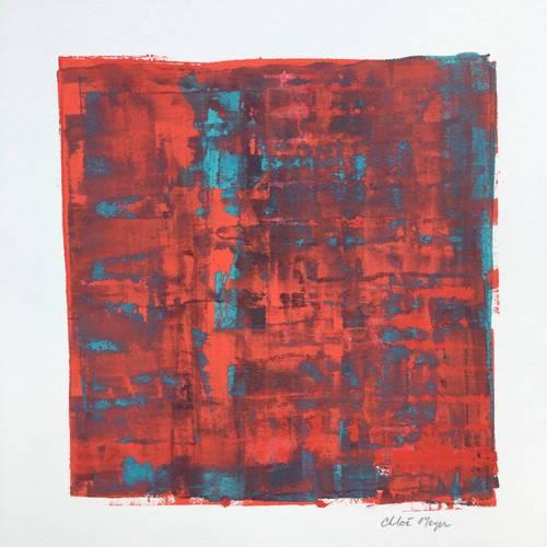 """SEEKING 2, Chloé Meyer, 10"""" X 11.25"""", ink on paper"""