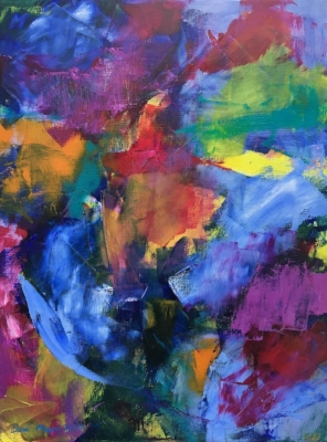 "Sold - FOR MICHELLE 1, Chloé Meyer original art, 11"" x 14"", abstract oil painting on linen"