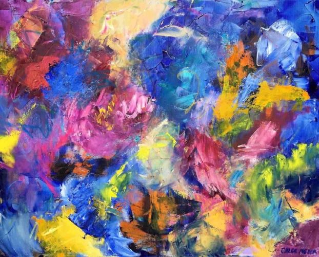 Little Miracles, original abstract art by Chloé Meyer