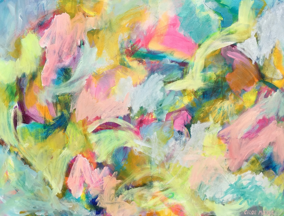 "NOVELLA, Chloé Meyer original artwork, 30"" x 40"", abstract oil painting on canvas"