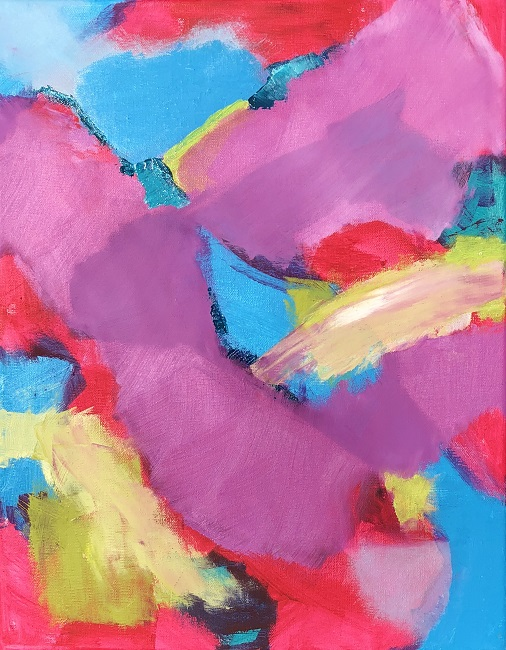 """RADIANCE 3, Chloé Meyer original artwork, 11"""" x 14"""", abstract oil painting on canvas"""