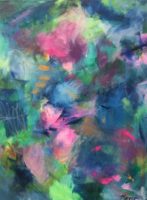 """FOUR - Chloe Meyer original art, 18"""" x 24"""", abstract oil painting on canvas"""