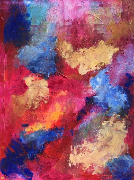 "MAGIC, Chloé Meyer original art, 18"" X  24"", abstract oil painting on canvas"