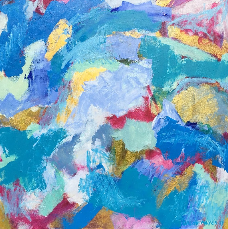 """SHAKE OURSELVES, Chloé Meyer original art, 30"""" x 30"""", abstract oil painting on canvas"""