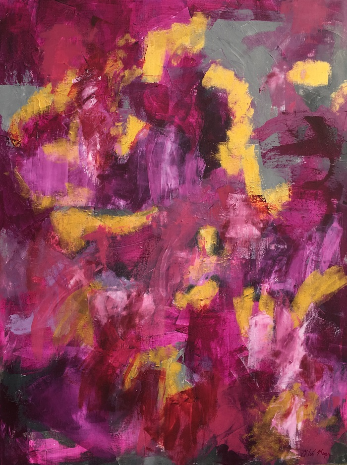 """THIS DAWN, Chloé Meyer original art, 30"""" X 40"""", abstract oil painting on canvas"""