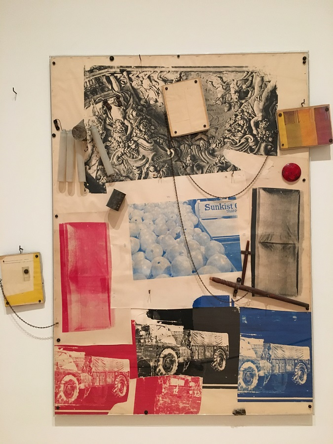 Artwork by Robert Rauschenberg, image credit by Chloe Meyer