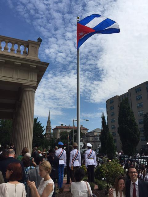 7.20.15 Flag Raising Ceremony at Cuban Embassy in Washginton