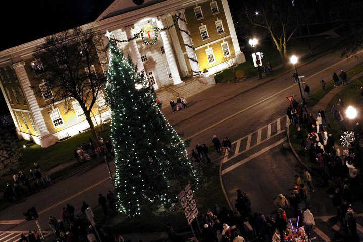 Auburn Memorial City Hall Tree Lighting, photo by Maureen McEvers